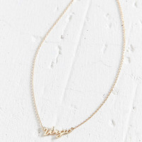 Zodiac Nameplate Necklace - Urban Outfitters