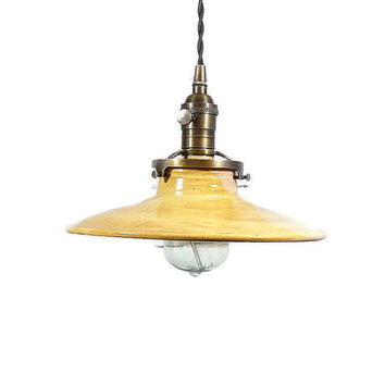 Lighting, Pendant Lights, pottery light, ceramic lighting, pendant lighting, restaurant lighting, industrial lighting, Ships FREE to USA