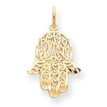 Filigree Chase Charm in 10k Yellow Gold