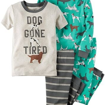 4 Piece Dogs PJ Set (Baby)