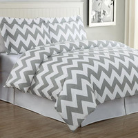 Walmart: Echelon Home Chevron Duvet Cover Set