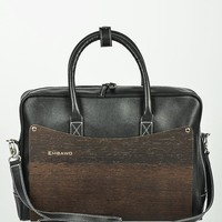 Embawo Wood & Leather Laptop Case - Eco Handbags & Wallets, Handcrafted in Italy by Embawo - Modnique.com