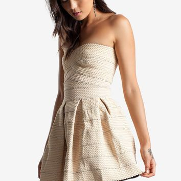 Savanna Elastic Fit & Flare Dress