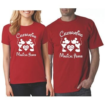 Celebrating Magical Years Couple Anniversary Shirts | Our T Shirt Shack