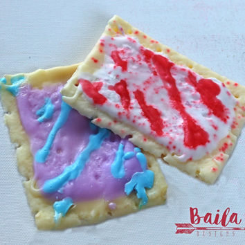 Toaster Pastry, fun soap, kids soap, food soap, novelty soap, Strawberry, Chocolate, Pop Tart Soap, Sprinkle Soap, Realistic Food Soap