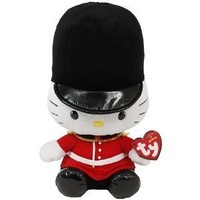 TY Beanie Baby - HELLO KITTY ( ROYAL GUARD ) (UK Exclusive) (8 inch)