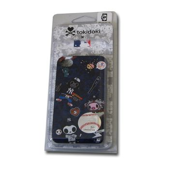 Coveroo New York Yankees Tokidoki Pattern on a Black iPhone 4s / 4 Slider Case