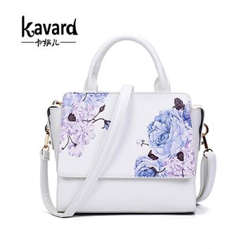 New Fashion Printing Flower PU Leather Women Handbags  Crossbody Bag For Women Designer Ladies Hand Bags Famous Brand Tote Bags