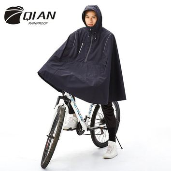 QIAN RAINPROOF Outdoor Fashionable Woman/Man Waterproof Cloak Cycle Rain Coat Multi-functional Climbing Hiking Travel Rain Cover