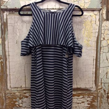 """""""See The Good"""" Striped Dress"""