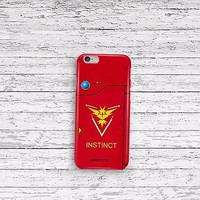 Pokemon Go Pokedex Team Instinct iPhone 5 5c 6 6s and Samsung Galaxy S5 S6 Case