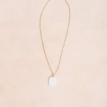 Whitney White Pendant Necklace