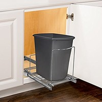 Lynk Professional Roll Out Bin Holder - Pull Out Under Cabinet Sliding Organizer - Chrome