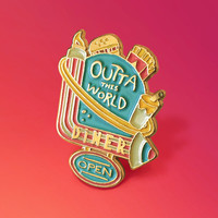 Space Diner Enamel Pin