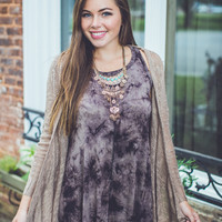 Fringe Cardigan in Mocha