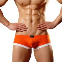 Dominik Boxer Trunk Underwear, Mens, Medium, Orange Colour