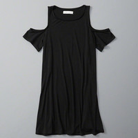 Womens Cold Shoulder Shift Dress | Womens New Arrivals | Abercrombie.com