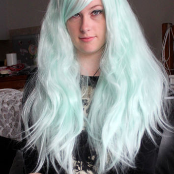 Sale // LIGHT BLUE RHAPSODY // Pastel Goth Kawaii Lolita Wig // High quality fibers (Kanekalon) // Mint wig // Cosplay wig