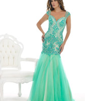 Seafoam Green Lace Mermaid Dress