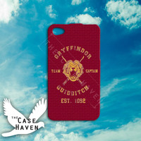 Harry Potter Gryffindor Quidditch Inspired Team Captain Cute Custom iPhone Case for iPhone 4 and 4s and iPhone 5 and 5s and 5c Case