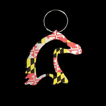 Maryland Flag Horse / Key Chain w/ Bottle Opener