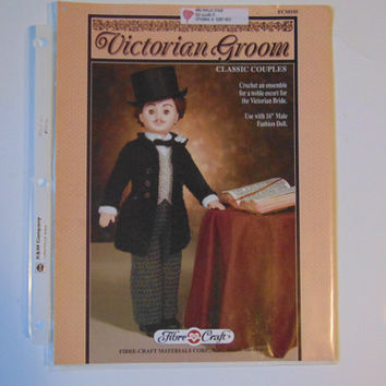Victorian Groom Classic Couple to Crochet by Fibre Craft FCM195