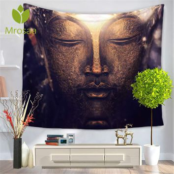 Hot Sale Indian Mandala Tapestry Figure Of Buddha Printed Tapestry Wall Hanging Beach Throw Mat Bedspread Beach Yoga Mat Blanket