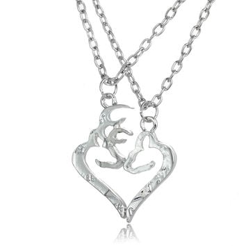 Buck & Doe Couples Necklaces 2 pc Set*Quick Delivery USA US 3-5 days