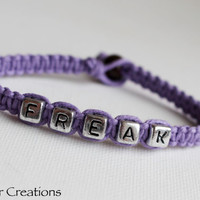 CLEARANCE SALE - Lavender Purple Freak Bracelet, Hand Knotted Macrame Hemp Jewelry, Quirky Friendship Gift for Her