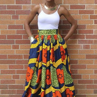 African Printed Maxi Casual Dress Dress