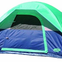 Texsport Riverstone 2 Person Square Dome Tent (Silver/Blue, 7-Feet X 5-Feet X 48-Inch )