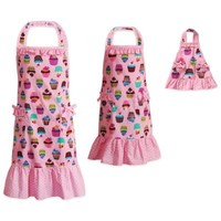 Dollie & Me® Cupcake Print 3-Piece Apron Set