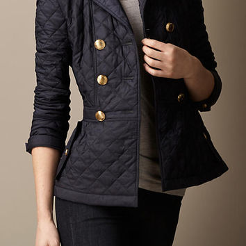 Quilted Peplum Jacket
