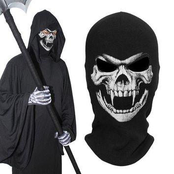 DCCKH6B Ther Fangs Death Grim Reaper Ghost Skull Tactical Army Military Cosplay Costume Balaclava Halloween  Party Winter Full Face Mask