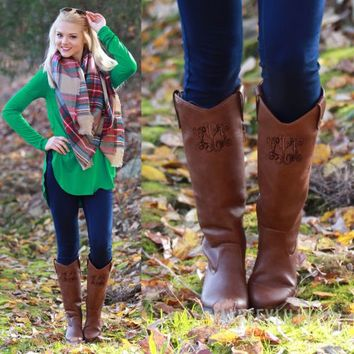 Monogrammed Equestrian Style Riding Boot   Marleylilly