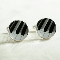 Cuff links - Piano cuff links - Keyboard cufflink - Music Piano Cufflinks - Piano Lovers Cuff links