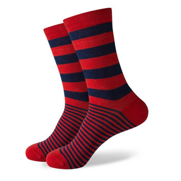 New styles man's cotton socks stripe socks