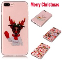 overmal New Christmas Day Slim Bumper Soft TPU+PC Phone Case Cover For IPhone 8 Plus 5.5Inch gift for families