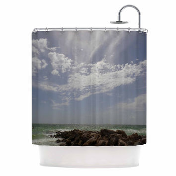 "Rosie Brown ""Clouds"" Coastal Photography Shower Curtain"