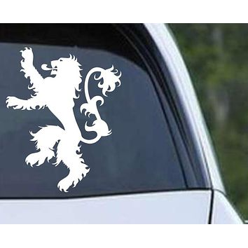 Game of Thrones House Lannister Lion Die Cut Vinyl Decal Sticker