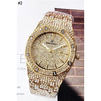 Audemars Piguet Tide brand men and women full of diamonds British watch #2