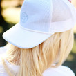 LAUREN JAMES SEERSUCKER SNAPBACK HAT - BLUE