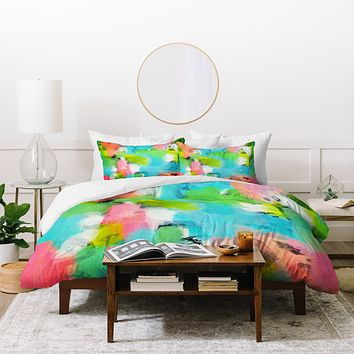 Natalie Baca Butterflies And Rainbows Duvet Cover