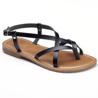SO Women's Strappy Thong Sandals
