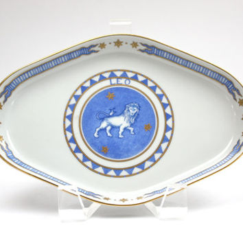 Mottahedeh Trinket Tray / Ring Dish / Astrological Sign Leo / Made in Portugal