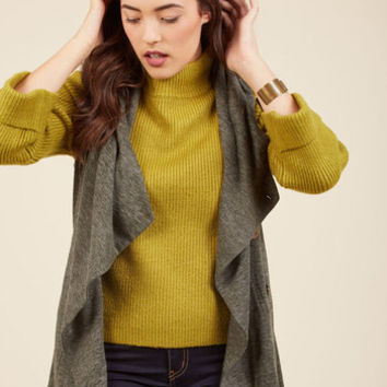 Linger for the Afternoon Vest in Olive | Mod Retro Vintage Sweaters | ModCloth.com