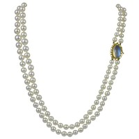 Georg Jensen Pearl Necklace No. 43 with Moonstone