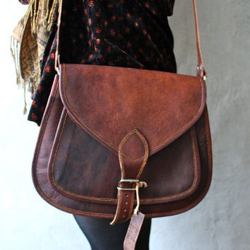 Steampunk Leather Crossbody bag, Everyday purse, Shoulder bag, women handbag , women satchel