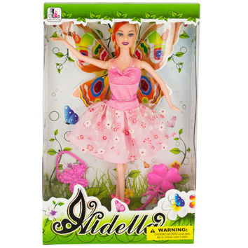 Ballet Dancer Fashion Doll with Butterfly Wings (Case of 1)