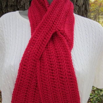 Best Crochet Ribbed Scarf Products On Wanelo